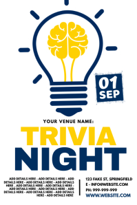 Trivia Night Poster Affiche template