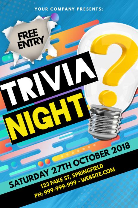 Trivia Night Poster 海报 template