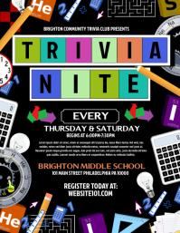 trivia night poster template