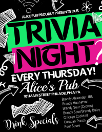 Great Trivia Night Idea Flyer Examples