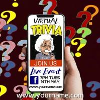 Trivia Night Quiz Promo Video Template Square (1:1)