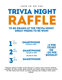 TRIVIA NIGHT Raffle Poster Template Flyer (US Letter)