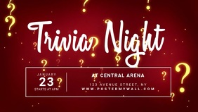 Trivia night video Ad Template for Facebook