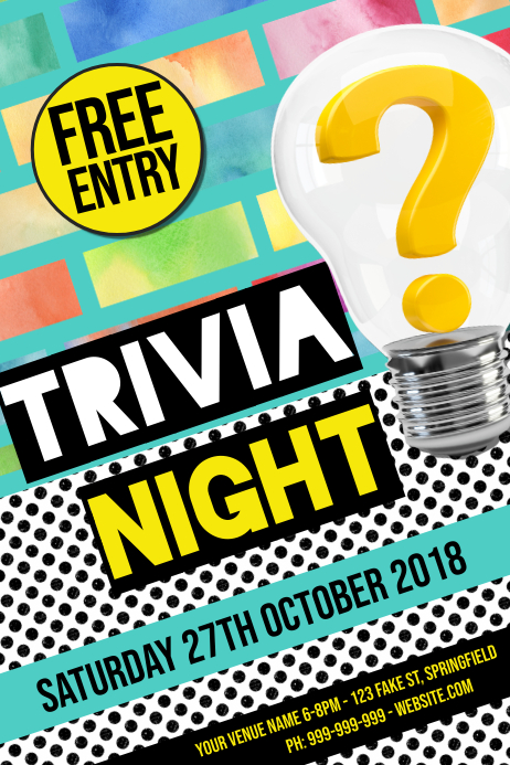 Trivia Poster Affiche template