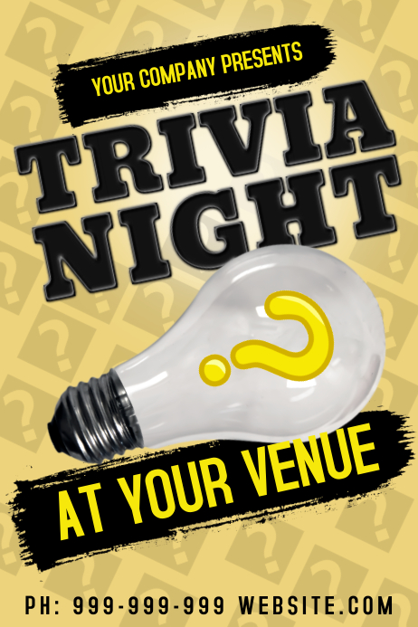 Trivia Poster template
