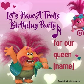 trolls birthday barty