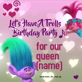trolls birthday barty