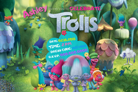 Trolls Birthday Scrapbook Girls Party Disney Pixar Glitter