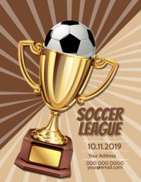 Trophy / Soccer / Football template