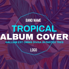 TROPICAL ALBUM COVER DESIGN TEMPLATE