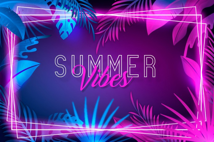 tropical background ,summer background Poster template