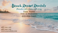Tropical Beach Background Business Card 名片 template