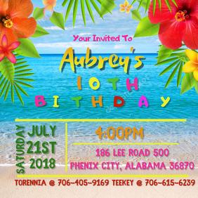 Tropical Birthday Template