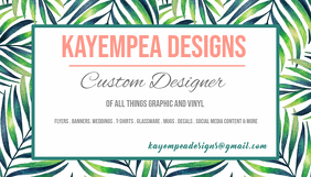 tropical business card Ikhadi Lebhizinisi template