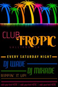 TROPICAL CLUB BEACH SUMMER DJ FLYER