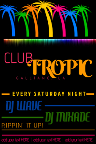 TROPICAL CLUB BEACH SUMMER DJ FLYER