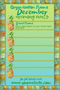 Tropical December Calendar