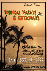 Tropical Getaways Poster