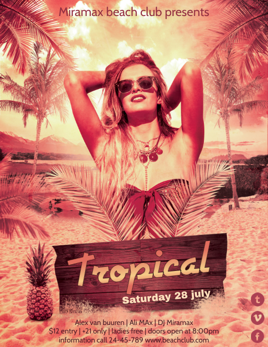 Tropical Hawaiian Party Template