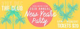 Tropical New Year's Party Facebook Banner