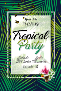 60 customizable design templates for tropical postermywall