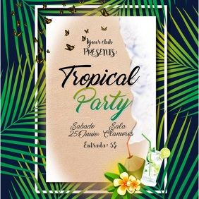 Tropical party instagram video post