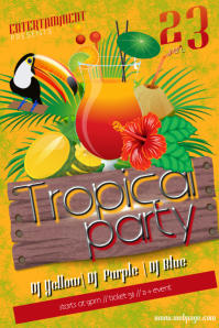 16 720 Customizable Design Templates For Tropical Party