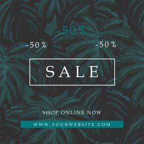 Tropical Pattern Sale Instagram Promo Banner