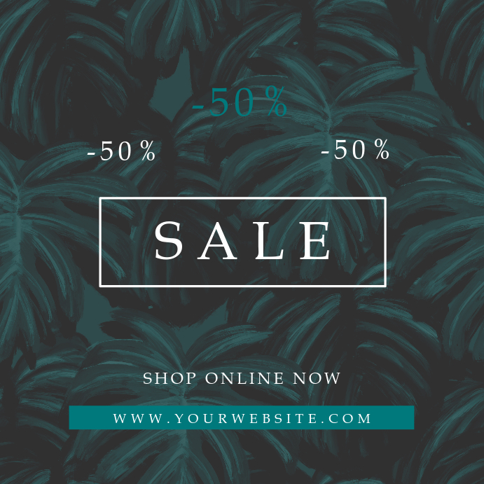 Tropical Pattern Sale Instagram Promo Banner Template