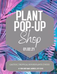 Tropical Plant Pop-Up Shop Flyer Volante (Carta US) template