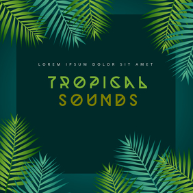Tropical Sounds Album Cover Template