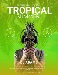 Tropical Summer Flyer Design Template