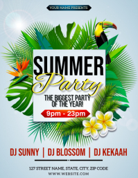TROPICAL SUMMER PARTY EVENT FLYER TEMPLATE