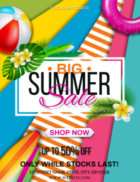 TROPICAL SUMMER SALE EVENT FLYER TEMPLATE
