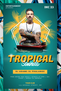 Tropical Summer Sounds Party Flyer Template
