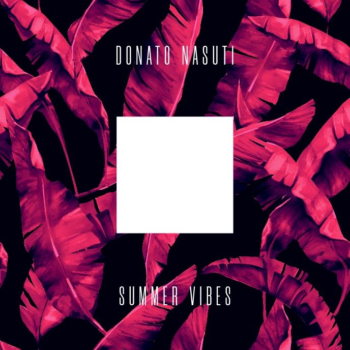 Tropical Summer Vibes CD Cover Sampul Album template
