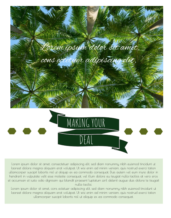 tropical tamplet template postermywall