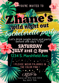 Tropical Themed Invite