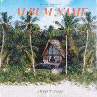 Tropital Paradise CD Album Cover Template