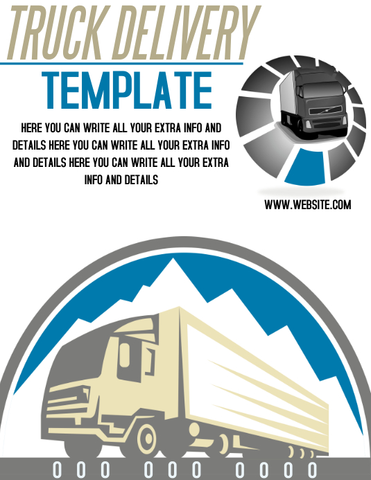 TRUCK DELIVERY FLYER TEMPLATE