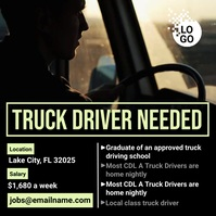 Truck Driver Needed Instagram-Beitrag template