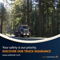 truck insurance services advertising Сообщение Instagram template
