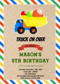 Truck on over party invitation