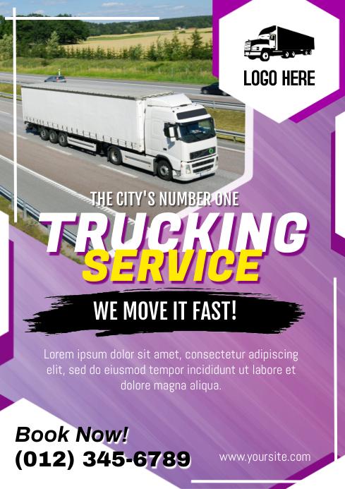 Trucking Service Flyer A4 template