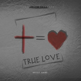 True Love album cover Video template Обложка альбома