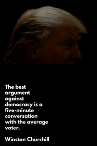 Trump & Democracy - Portrait