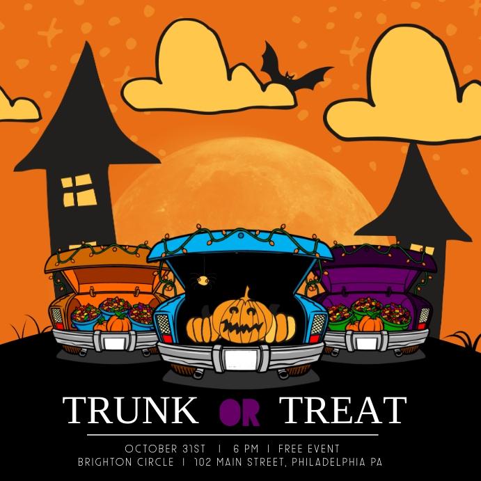 Trunk or treat Publicación de Instagram template