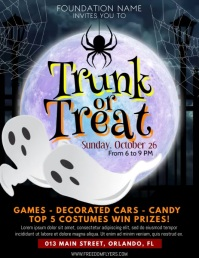Trunk OR Treat flyer Folheto (US Letter) template