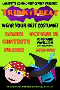 350 customizable design templates for trick or treat flyer