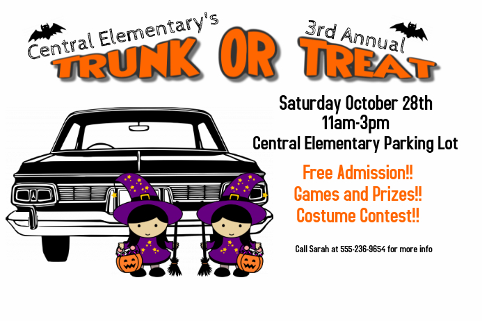 Trunk Or Treat Template Postermywall